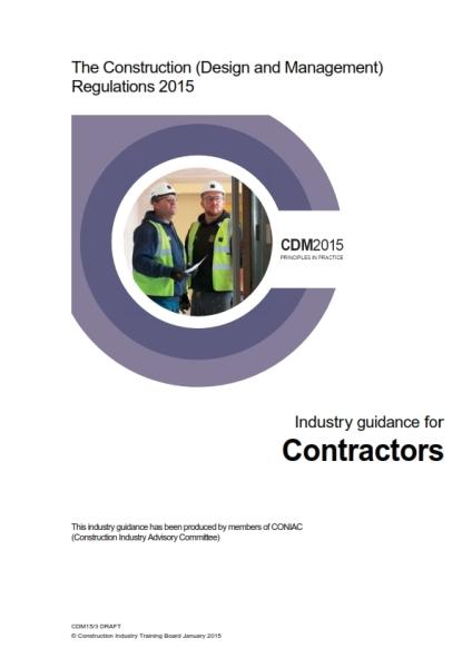 CDM2015 industry guidance contractors