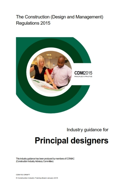 CDM2015 industry guidance principal designer